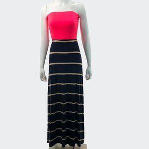 NWOT Black Bead Maxi Dress Small